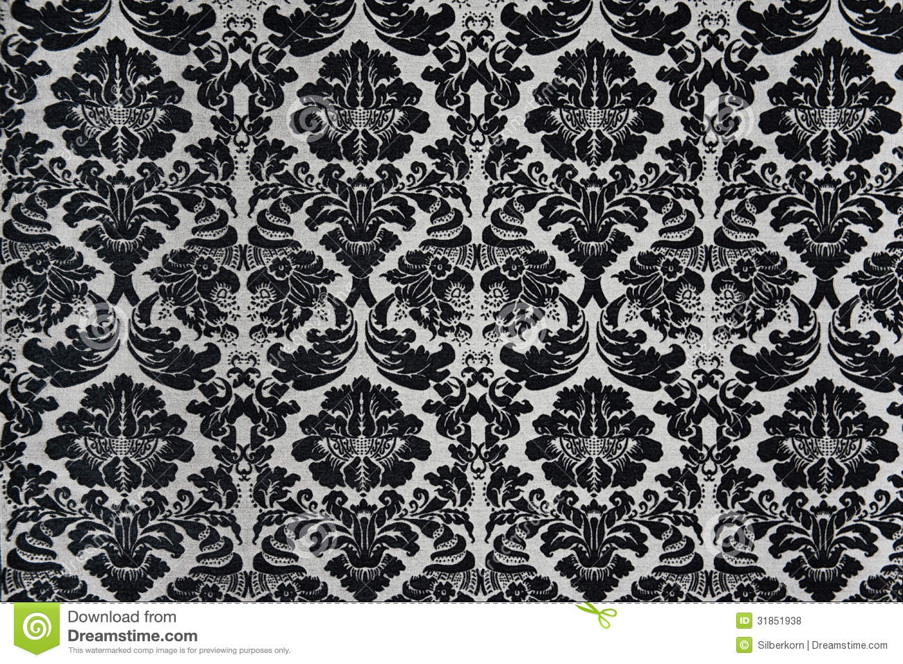 Black and white ornaments - Black And White Barock Background