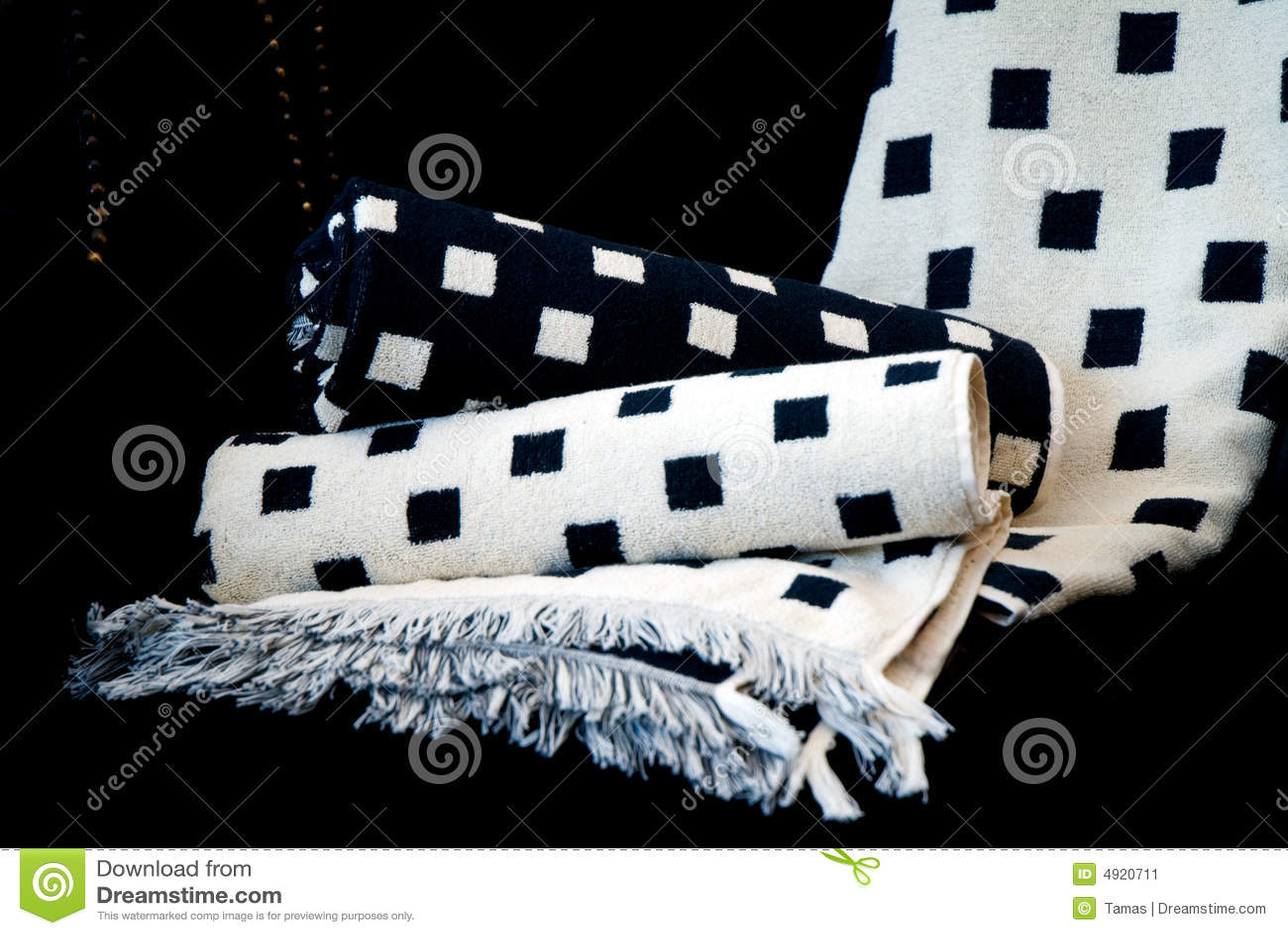Black White Bath Towels Stock Image Image 4920711
