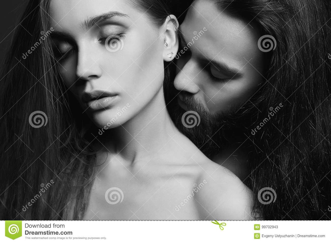 Black and white beautiful couple stock image image of adult beard