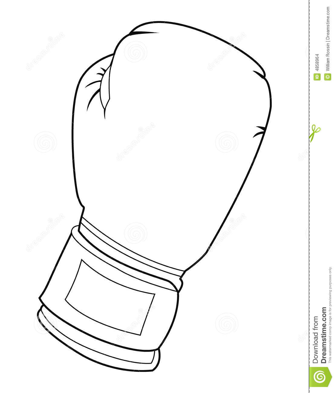 Black And White Boxing Glove Stock Images - Image: 4858964