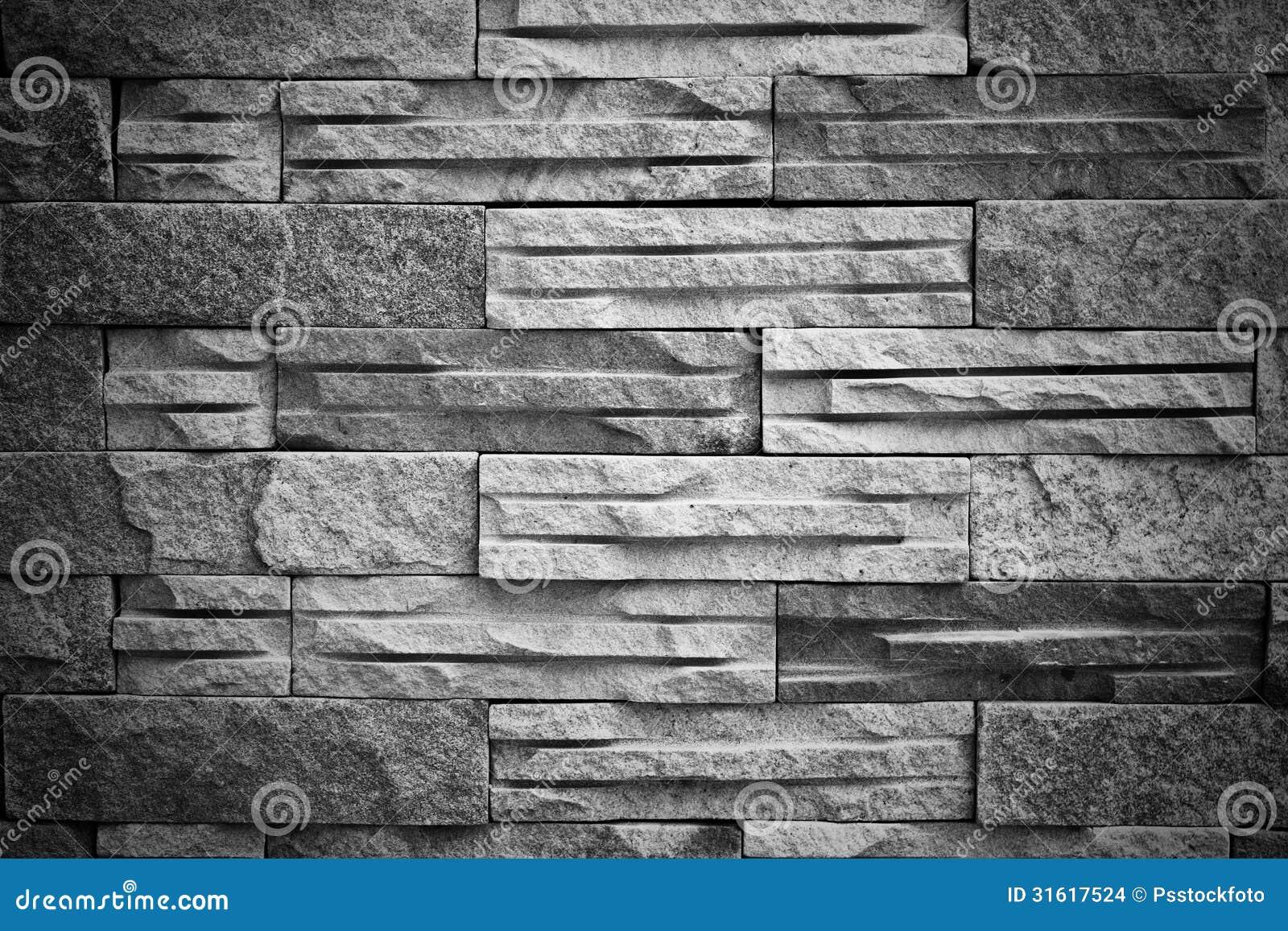 Black White Brick Block Texture Stock Photo