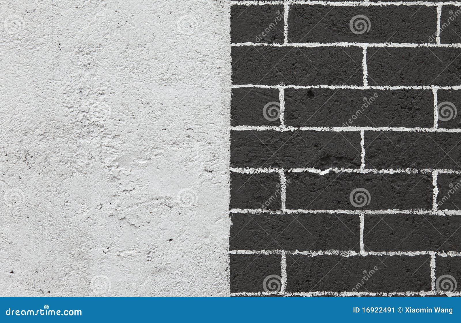 Black And White Brick Wall Stock Image Image 16922491