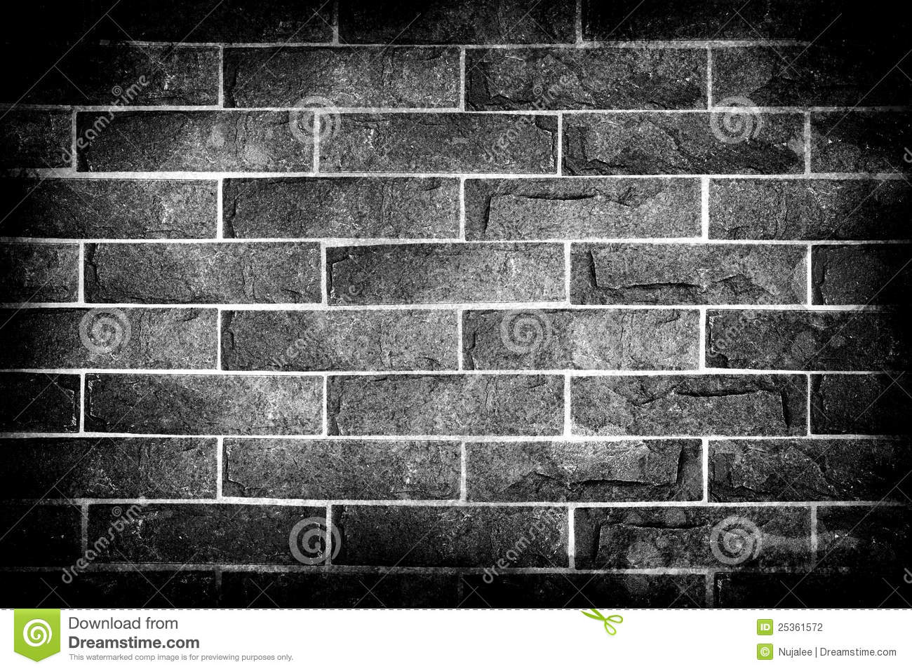 Black And White Brick Wall Stock Photography Image 25361572