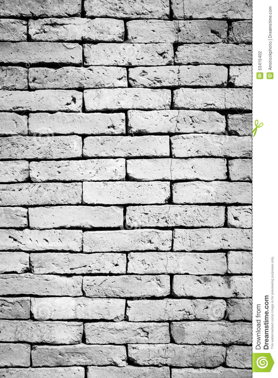 Black And White Brick Wall Background Stock Photo - Image ...