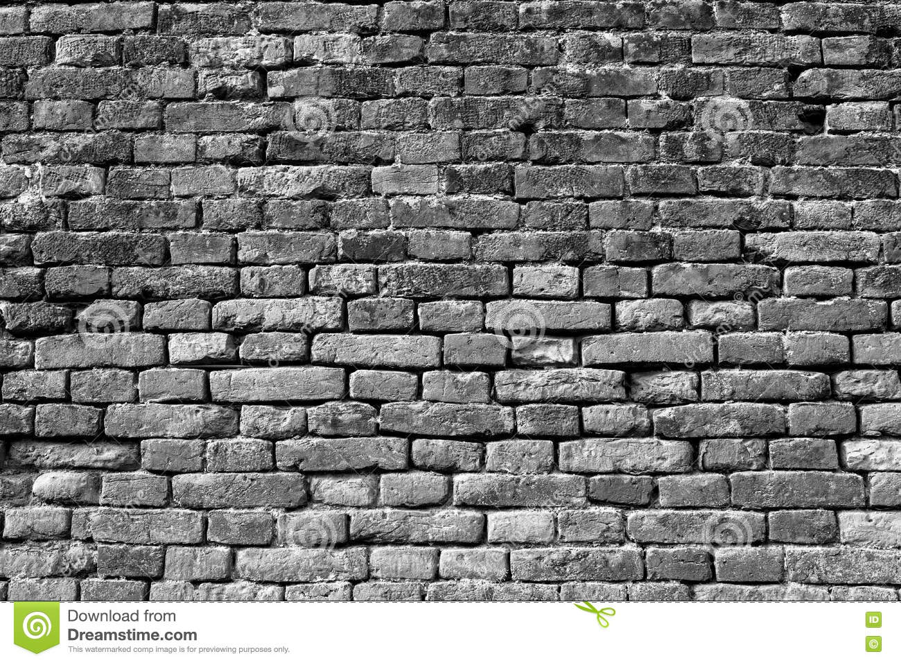 Black and white brick wall for background 8 stock photo - Pared ladrillo blanco ...