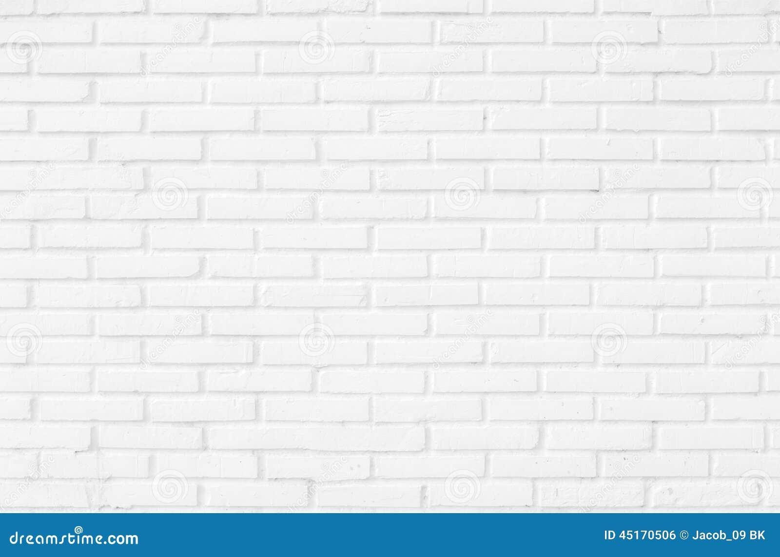 White brick wall texture background