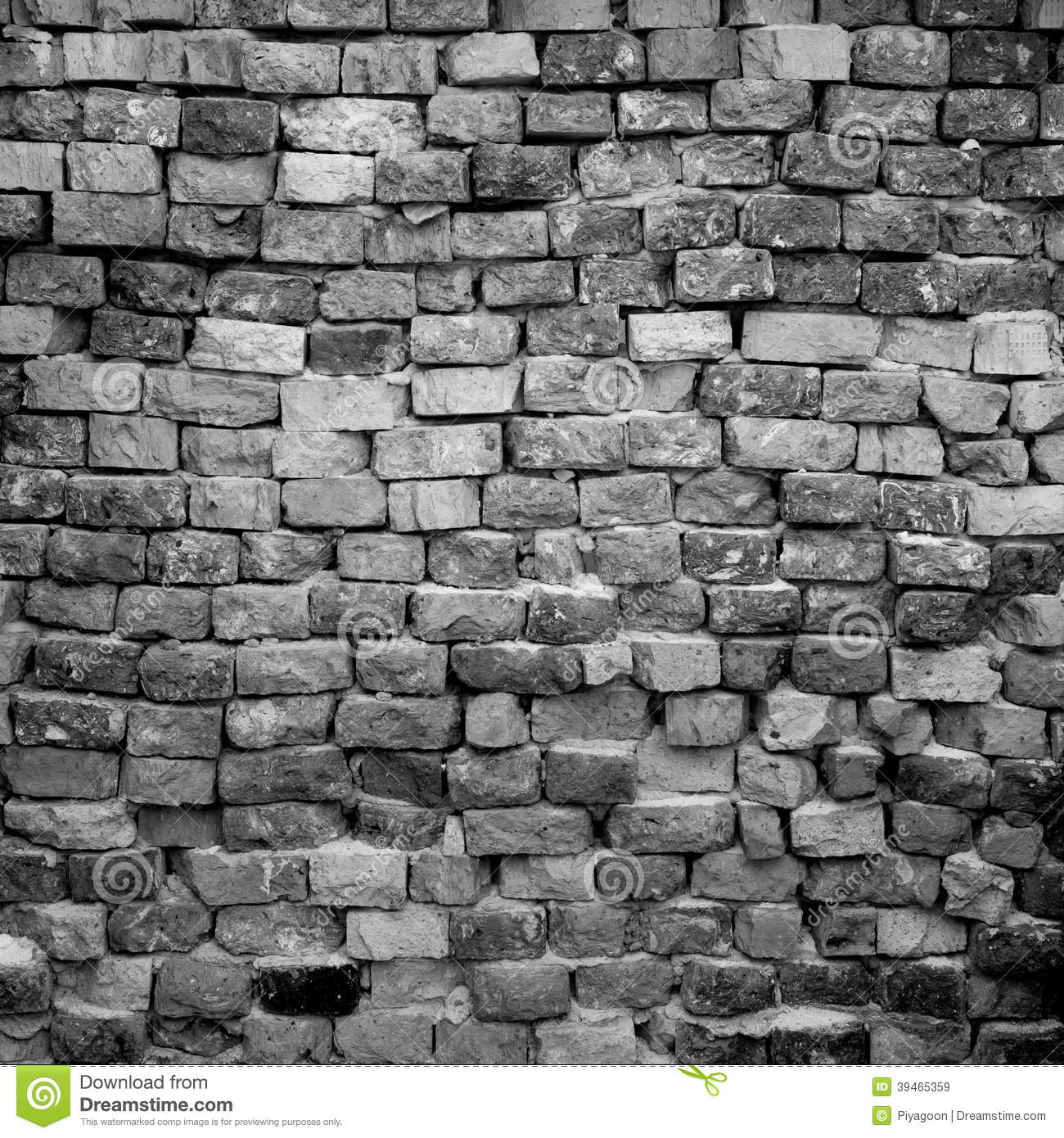 Black And White Brick Wall Stock Image Image Of Pattern 39465359