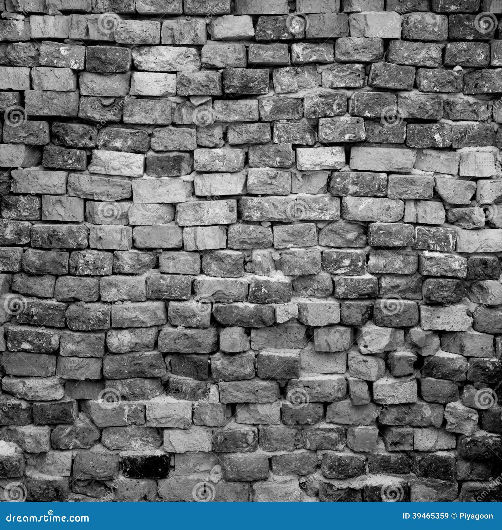 Black And White Brick Wall Stock Photo Image 39465359
