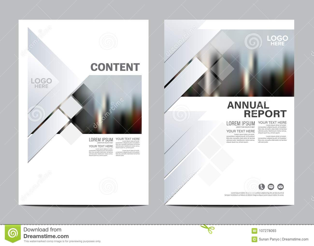 Black and white Brochure Layout design template. Annual Report Flyer Leaflet cover Presentation Modern background.