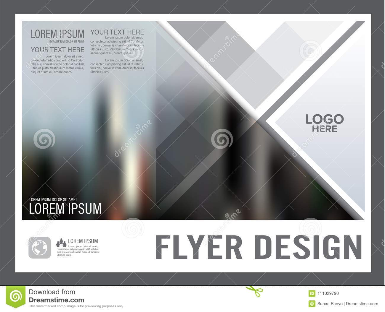 black and white brochure layout design template annual stock