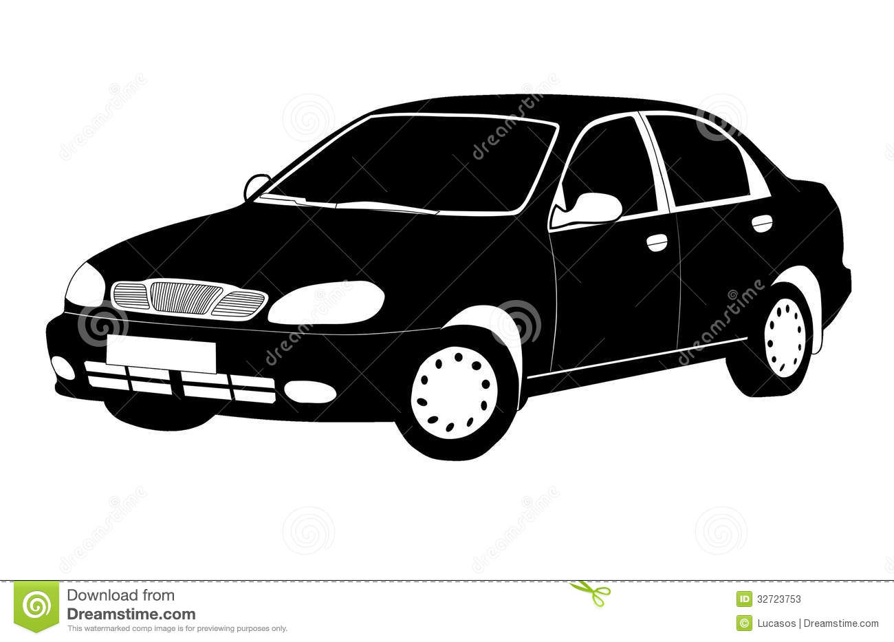 Black And White Car Stock Photos Image 32723753