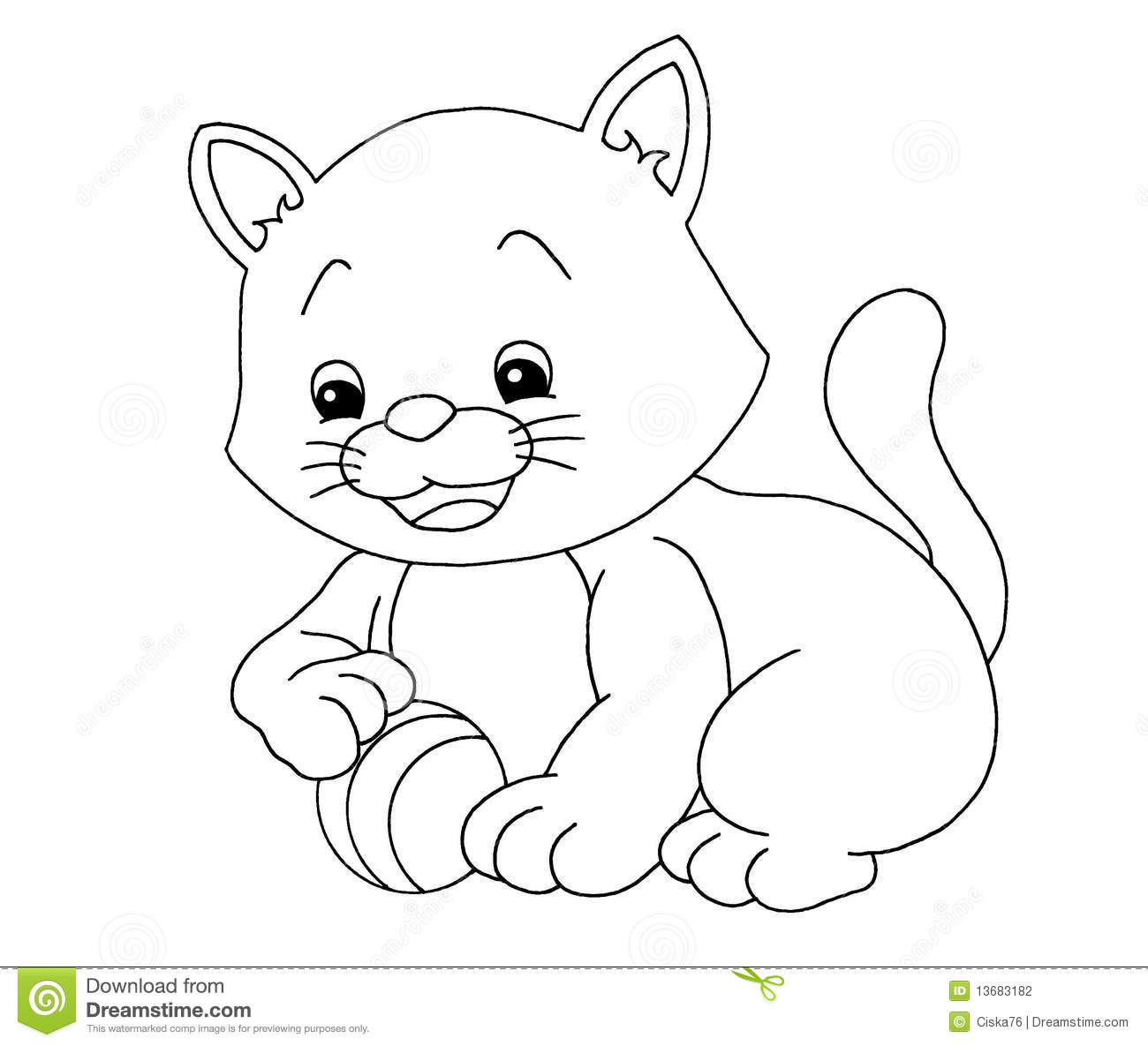 cat black and white coloring page youtuf com