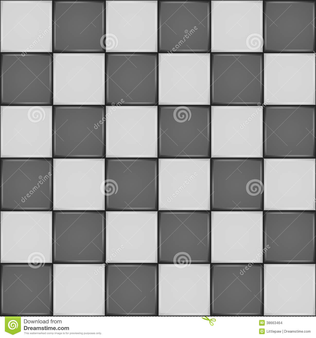 Black And White Ceramic Tile Seamless Pattern Stock Images - Image ...