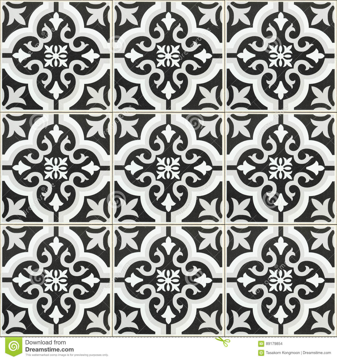 Black And White Tile Floor Texture Decorating Image Mag