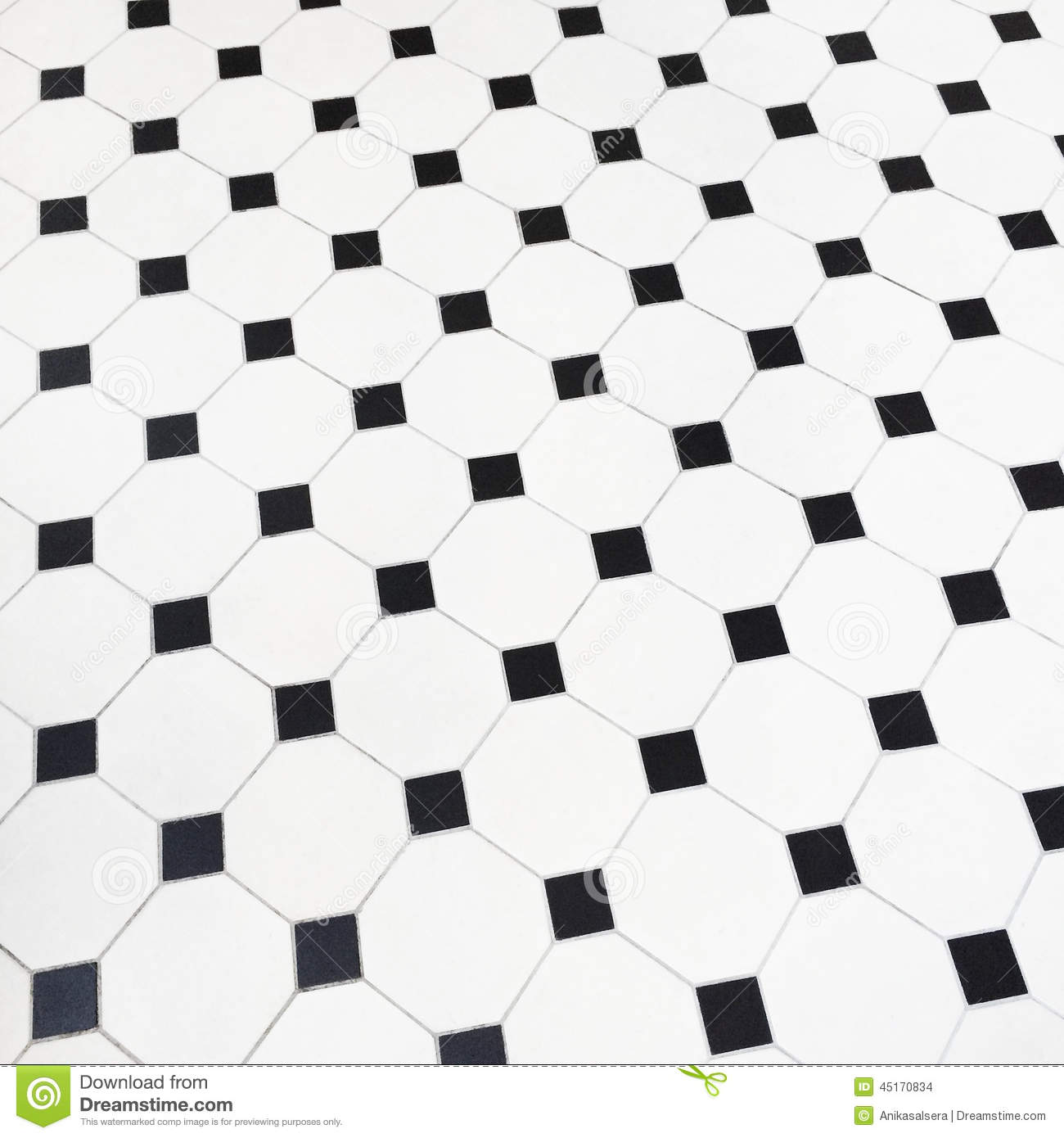 Black And White Ceramic Tiles Floor Stock Photo Image Of