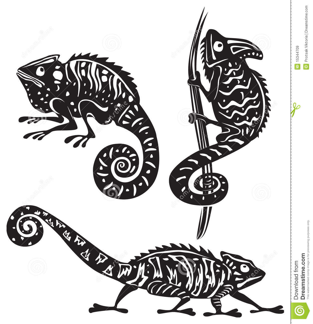 Image Result For Set Of Tribal Animal Tattoos Royalty Free Vector