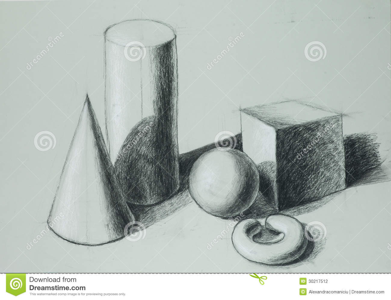 Hand Drawn Illustration Of Different Geometric Shapes