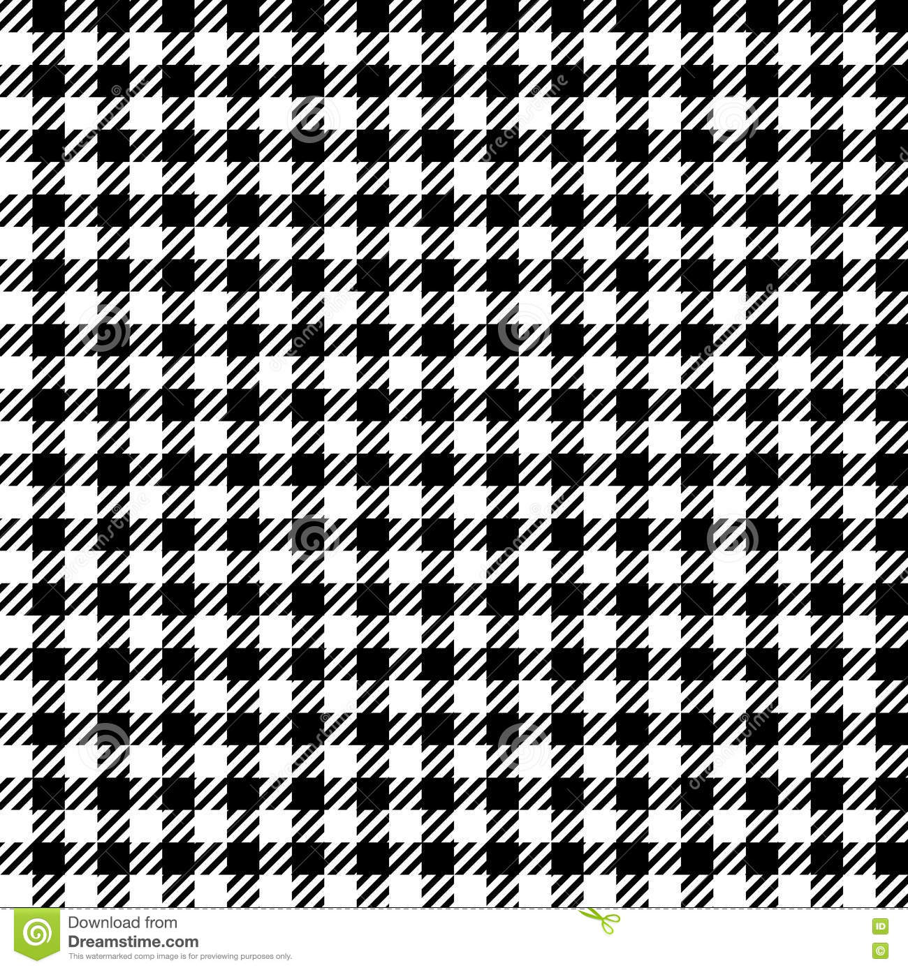Seamless black and white checkered texture stock images image - Black Fabric Illustration Plaid Seamless Texture Vector White