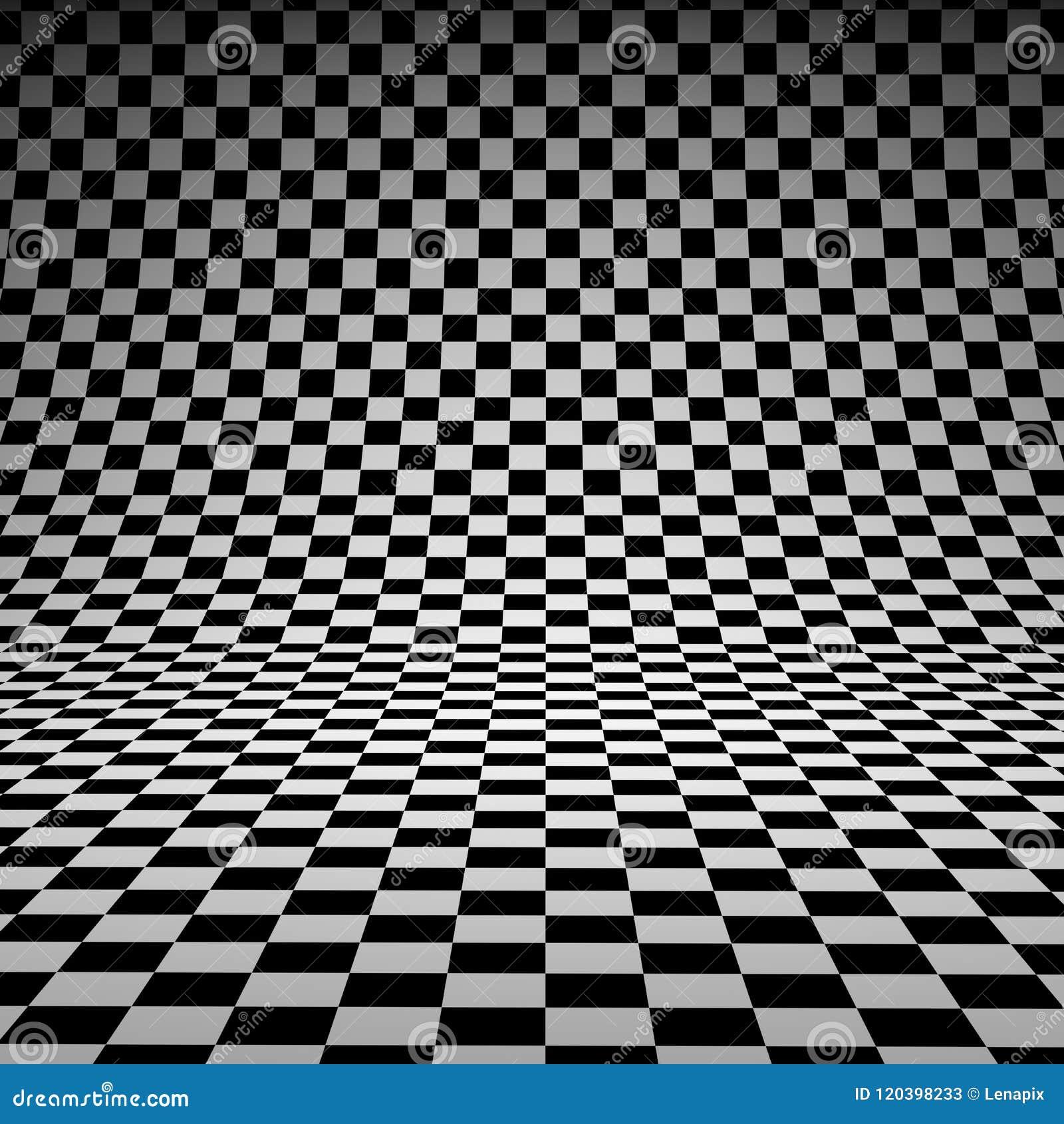 Black And White Checker 3d Studio Background Stock Illustration