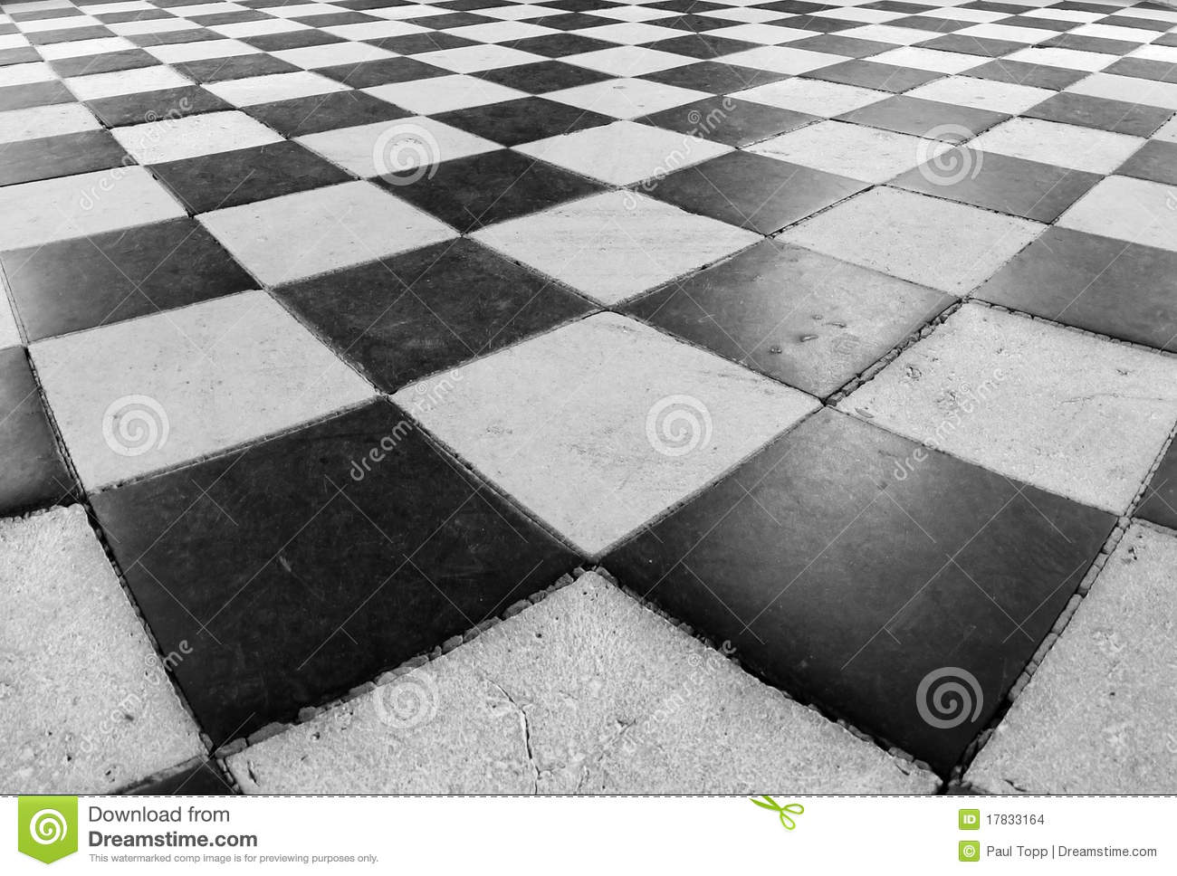 Black And White Checkered Floor Tile Design In The Medieval French