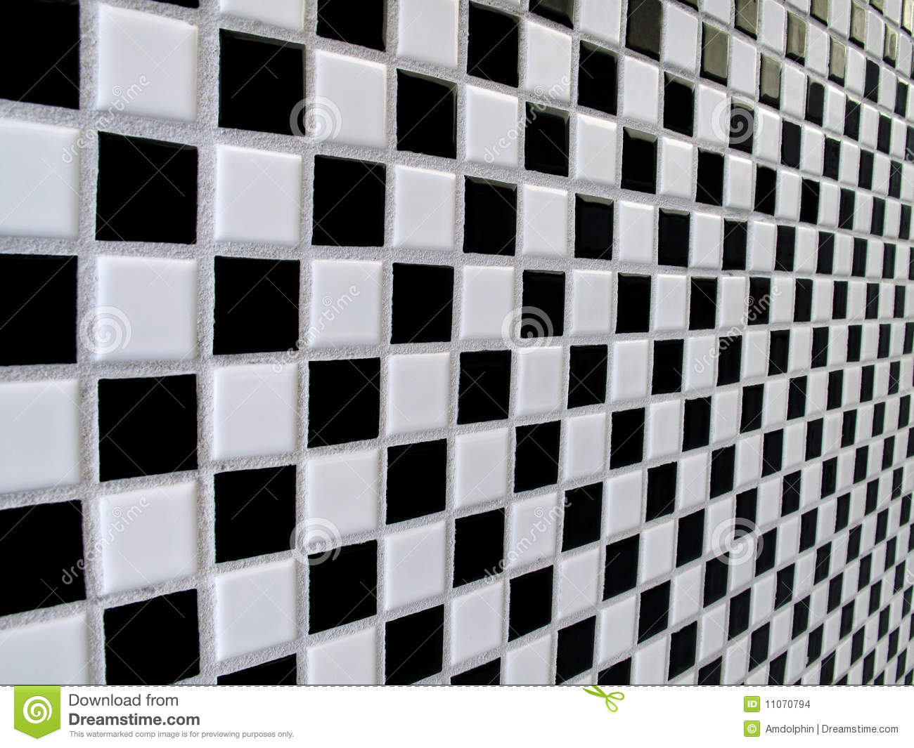 Black And White Checkerboard Tiles Stock Images Image