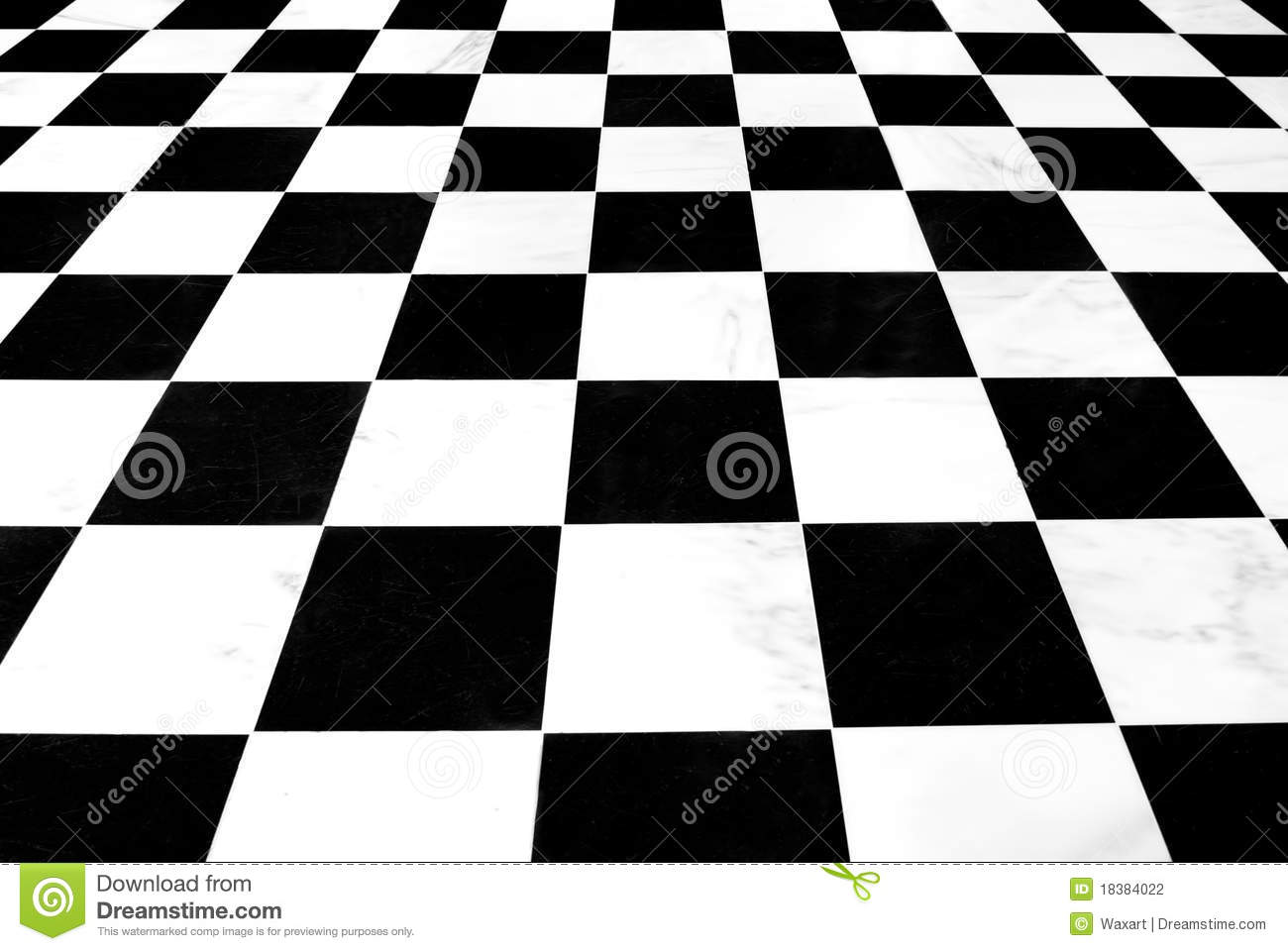Black and white checkered floor stock photography image for Checkered lino flooring