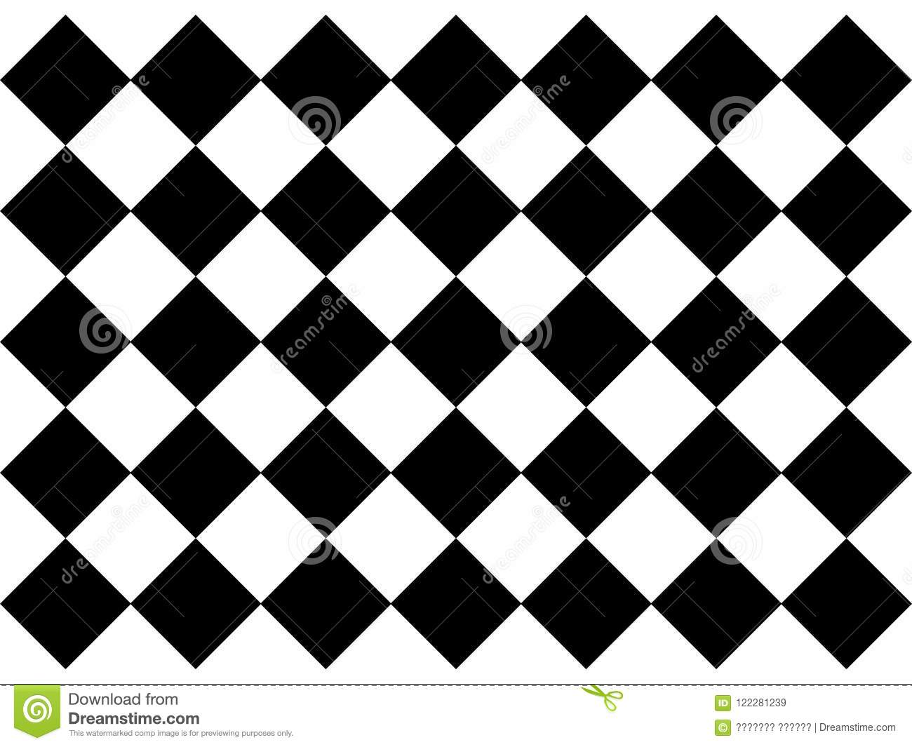 Black And White Checkered Floor Tiles Stock Vector Illustration Of