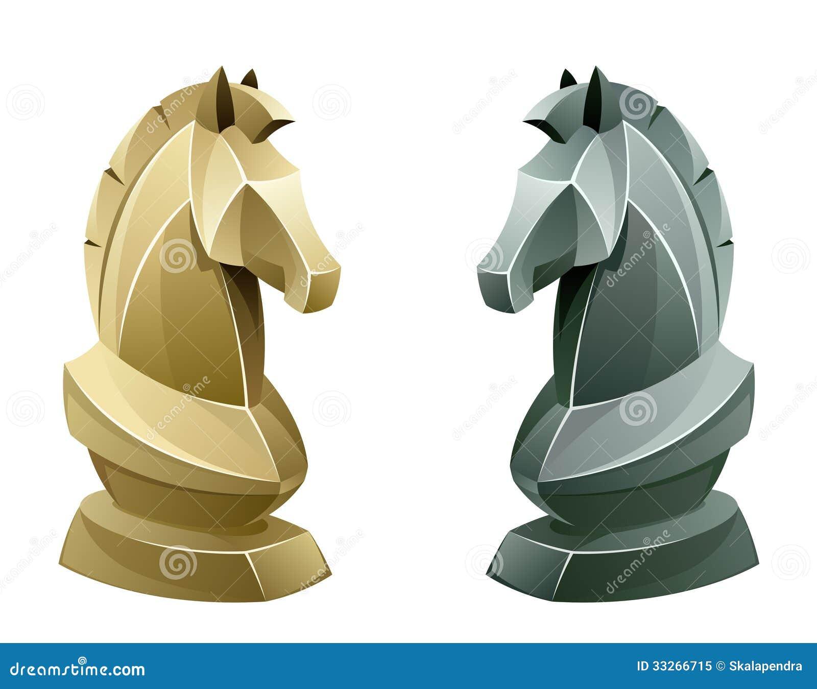 Black Knights Logo Design Black And White Chess ...