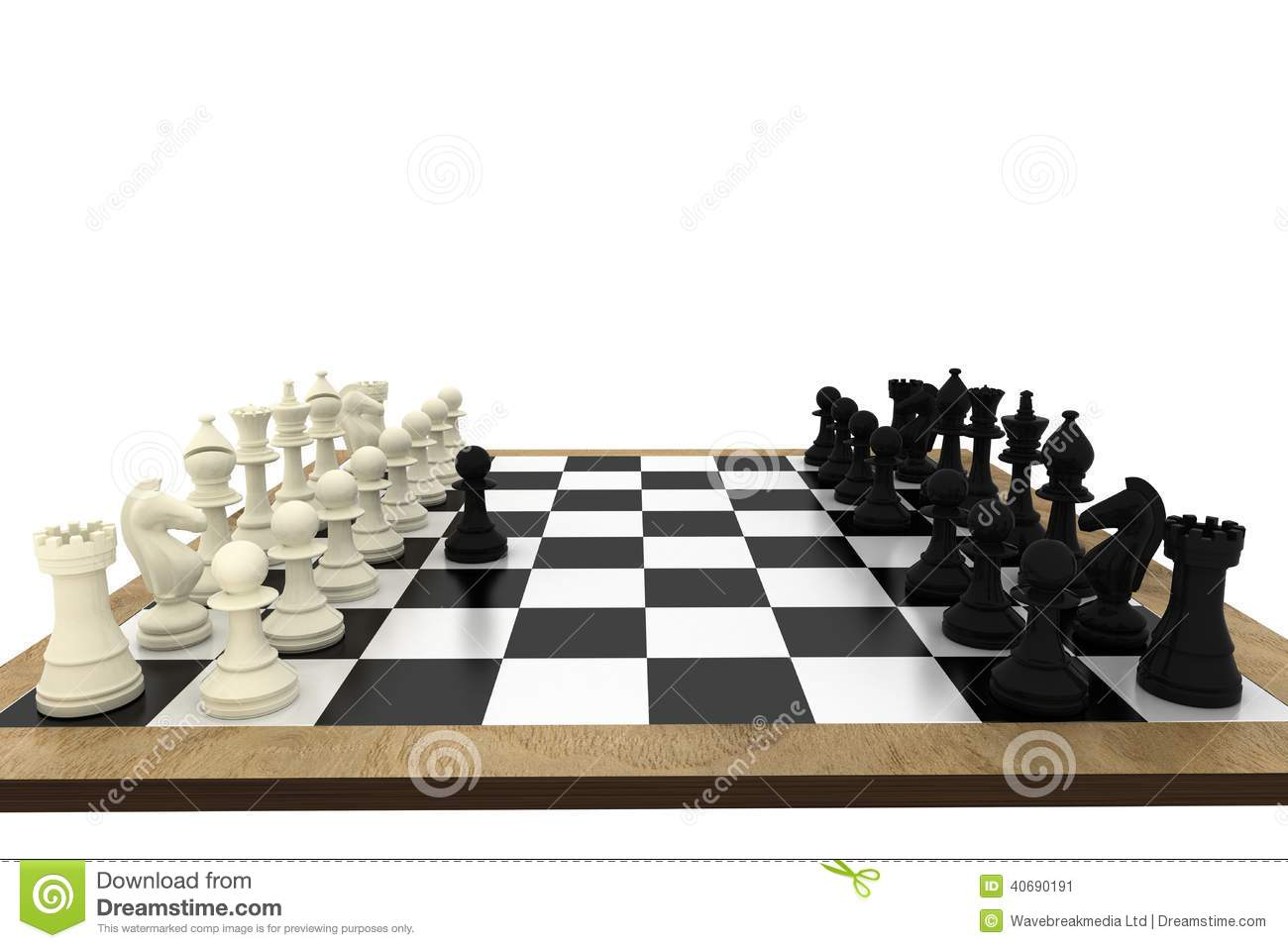 White Pawn Challenging Black Chess Pieces Royalty-Free ...