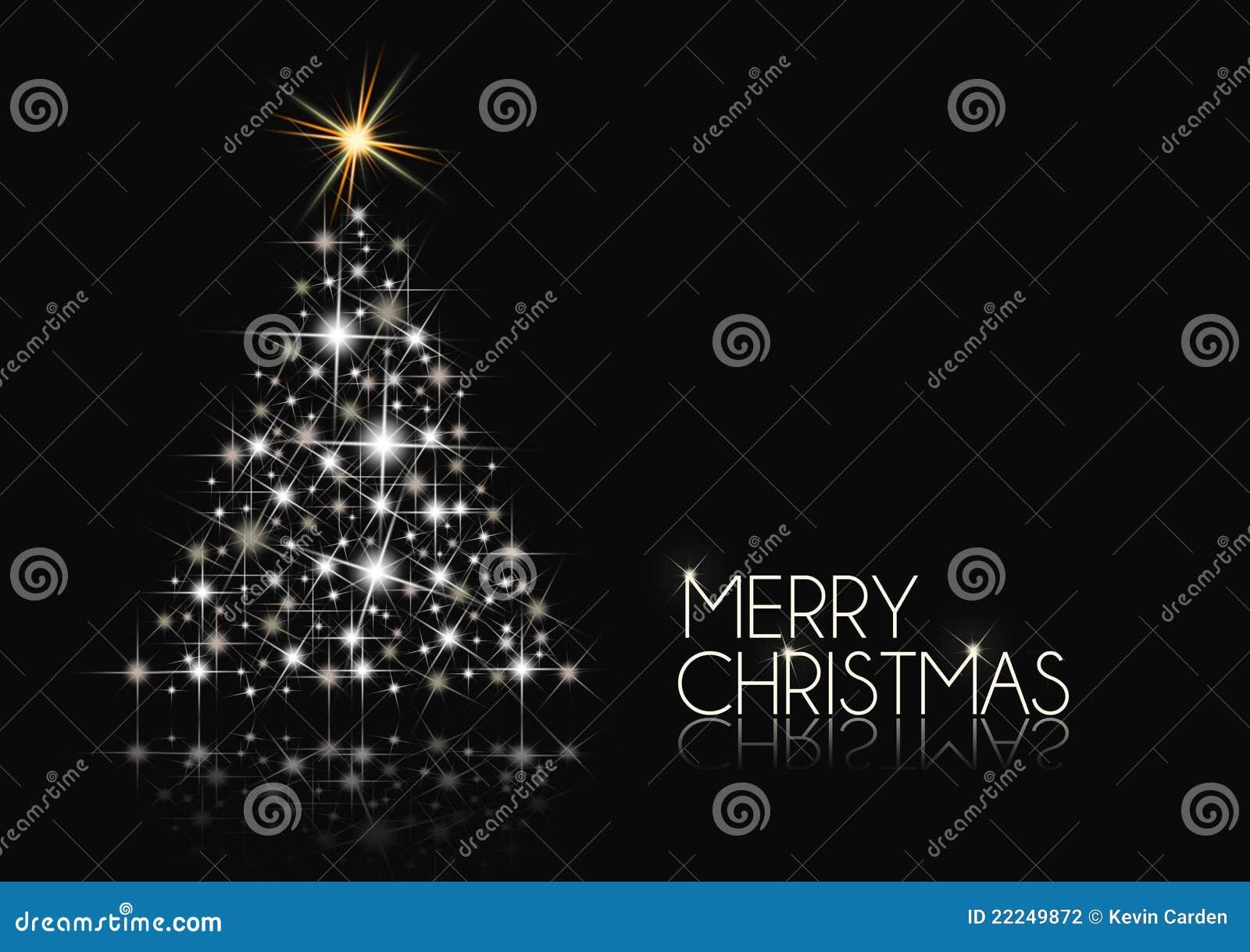 Black And White Christmas Stock Illustration Illustration