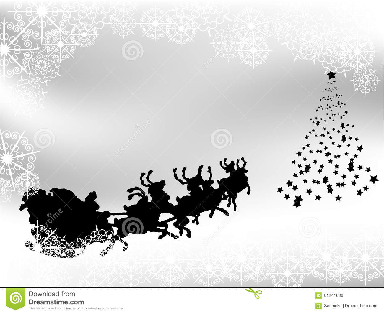 black and white christmas background stock vector image 61241086