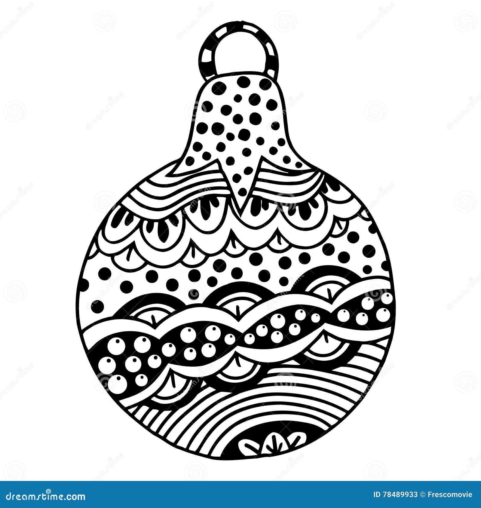 Black And White Christmas Ball Stock Vector - Illustration of ...