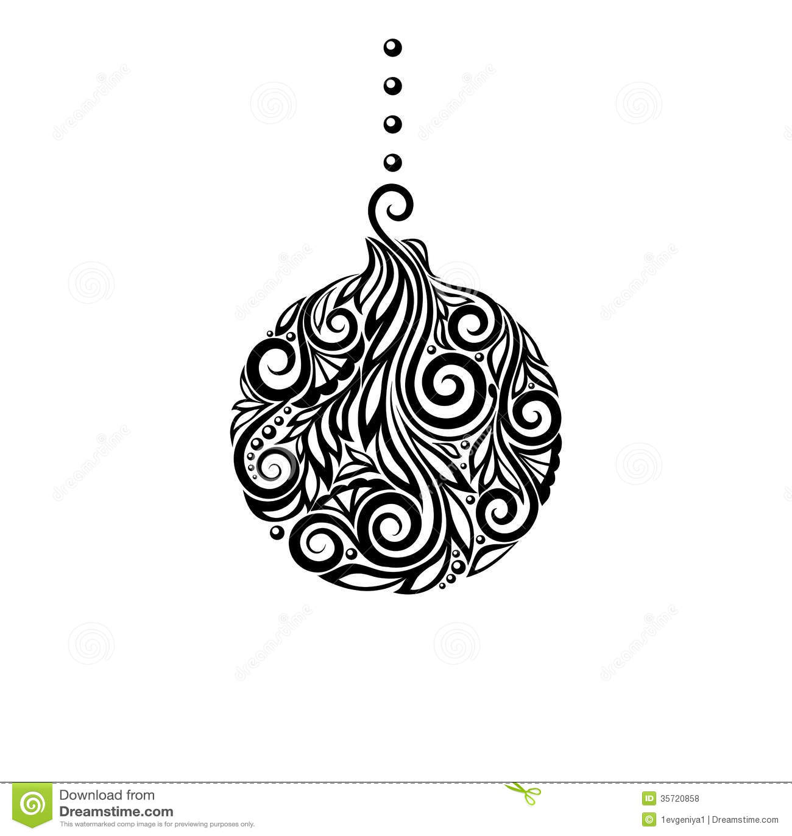 Black and white christmas ball great design eleme royalty - Interaktive weihnachtskarte ...