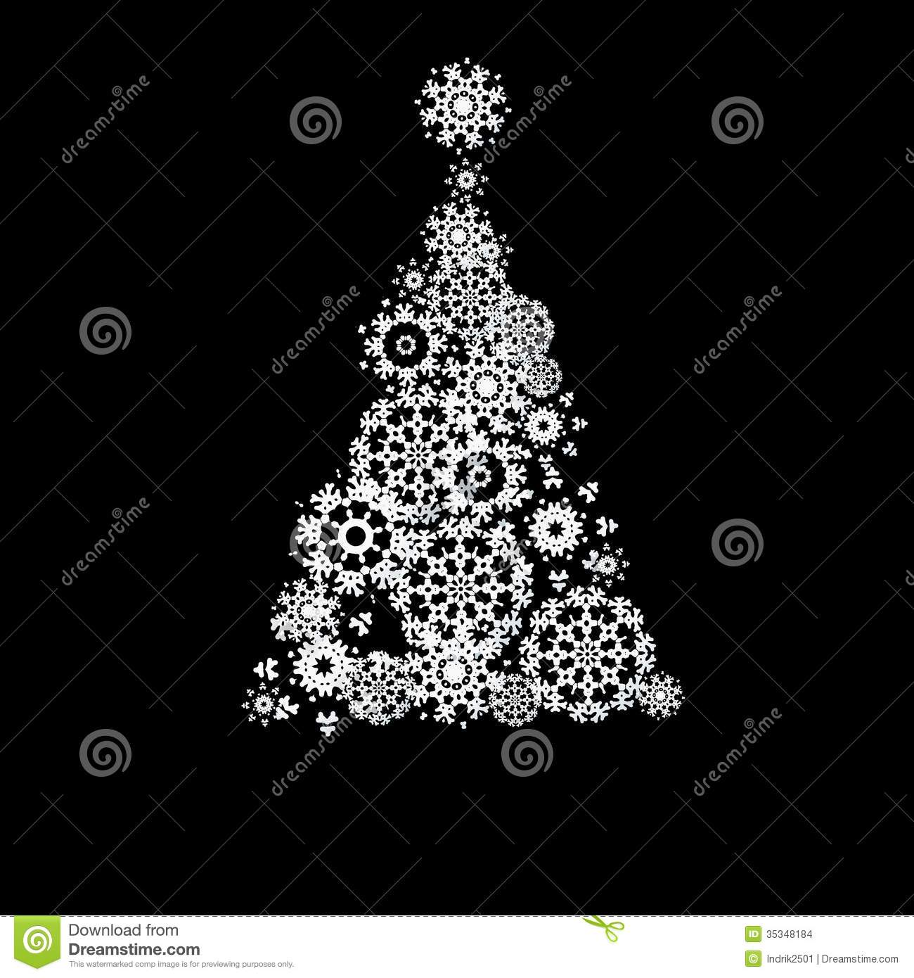 Black And White Christmas Eps10 Stock Vector