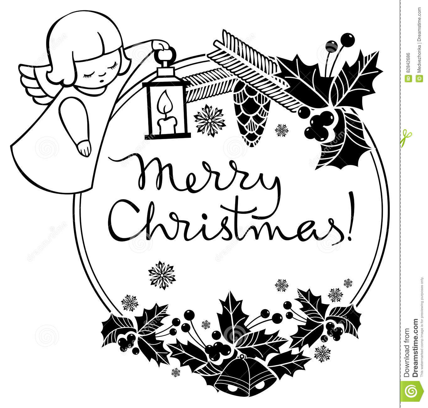 The Best Christmas Clipart Black And White