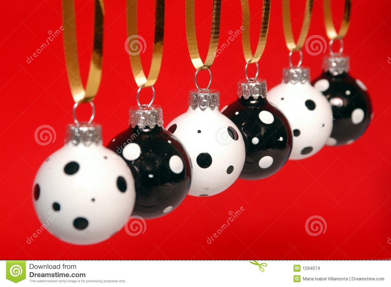Red and white christmas decorations - Black And White Christmas Ornament
