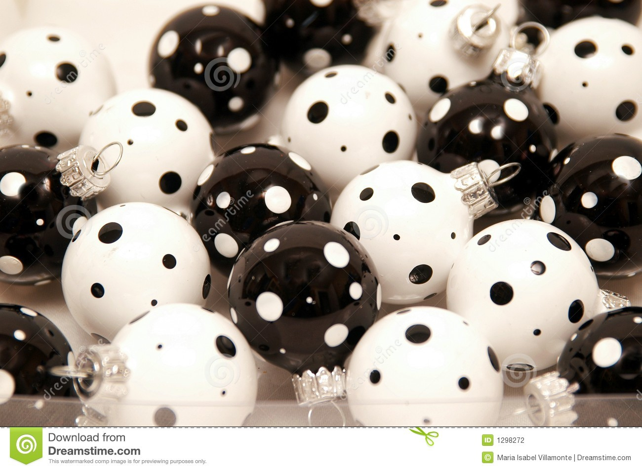black and white christmas ornament - Black And White Christmas Ornaments