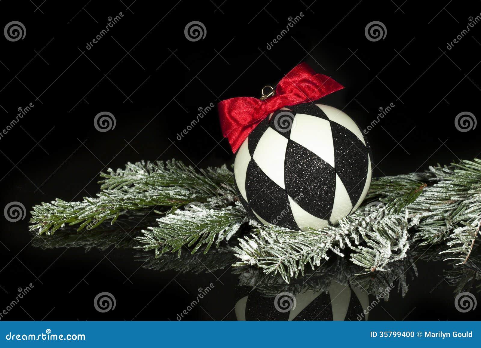 black white christmas ornament - Black Red White Christmas Decorations