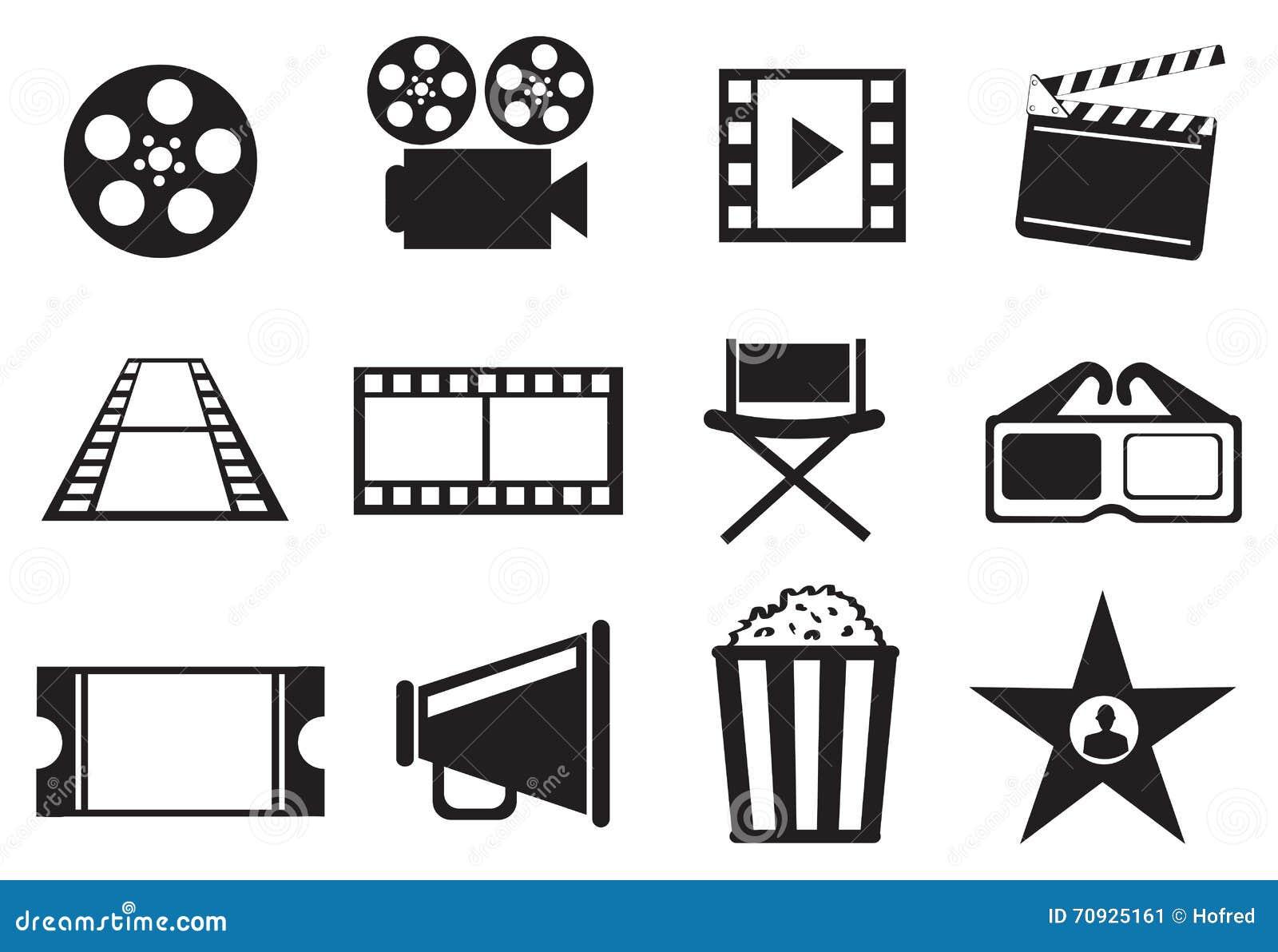 Icon Set Cinema Cartoon Vector Cartoondealer Com 63170665
