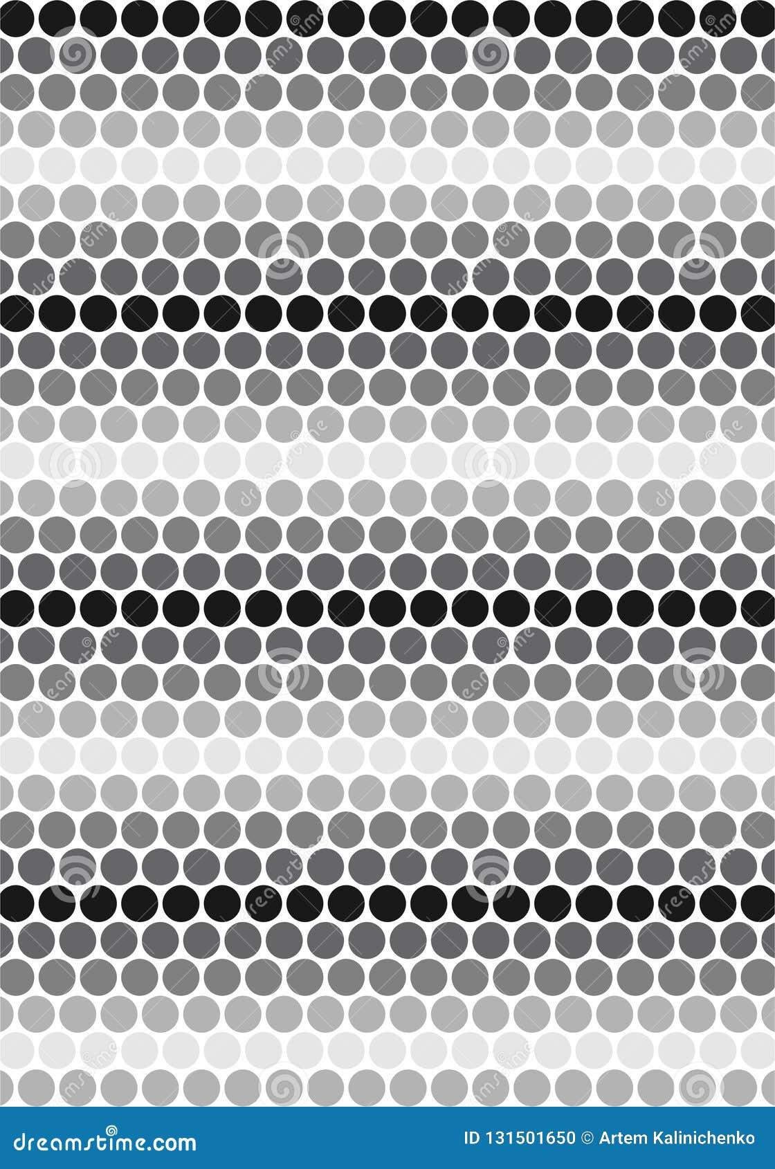 Black & White Circles pattern