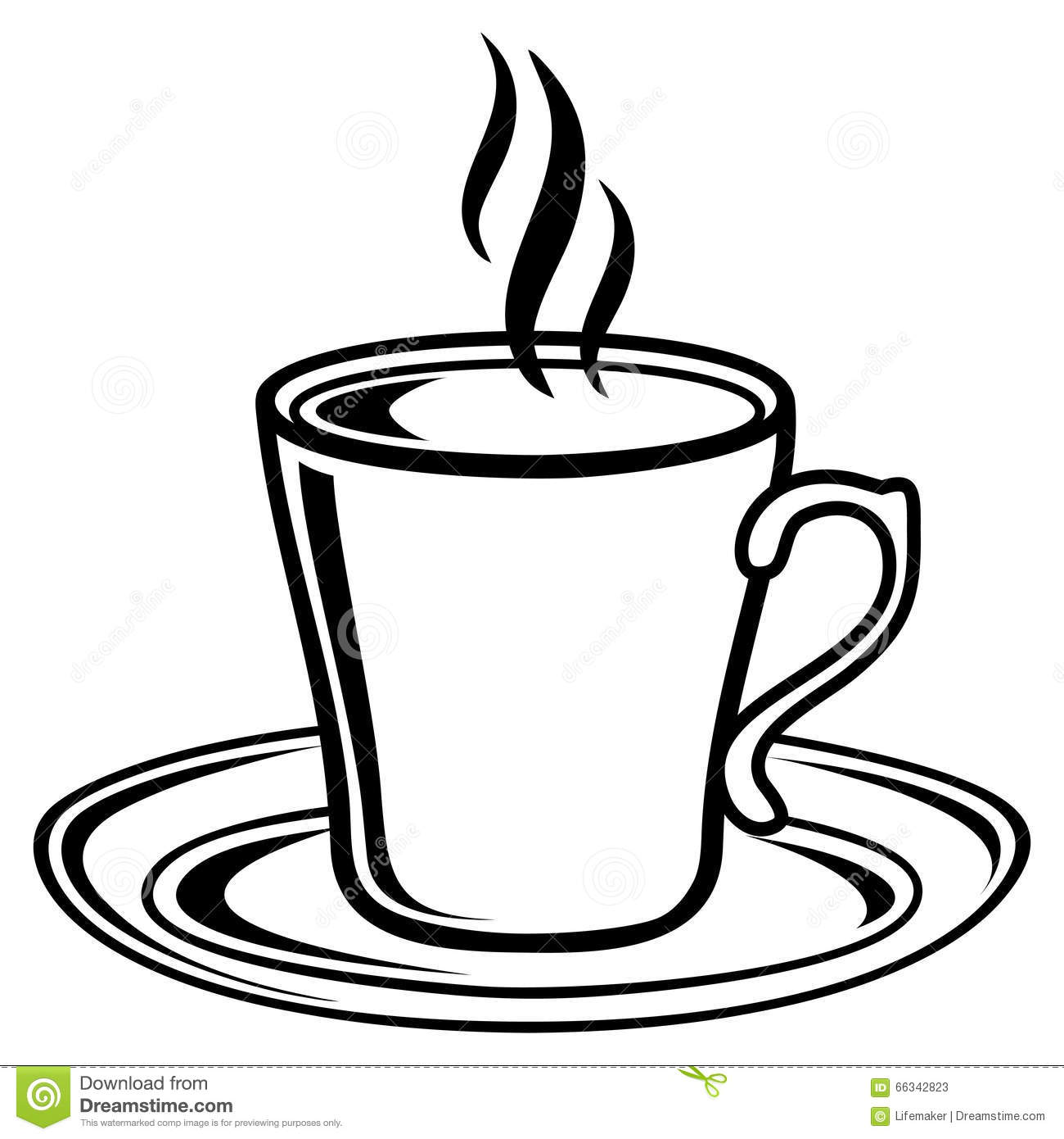 tea cup clipart black and white - photo #25