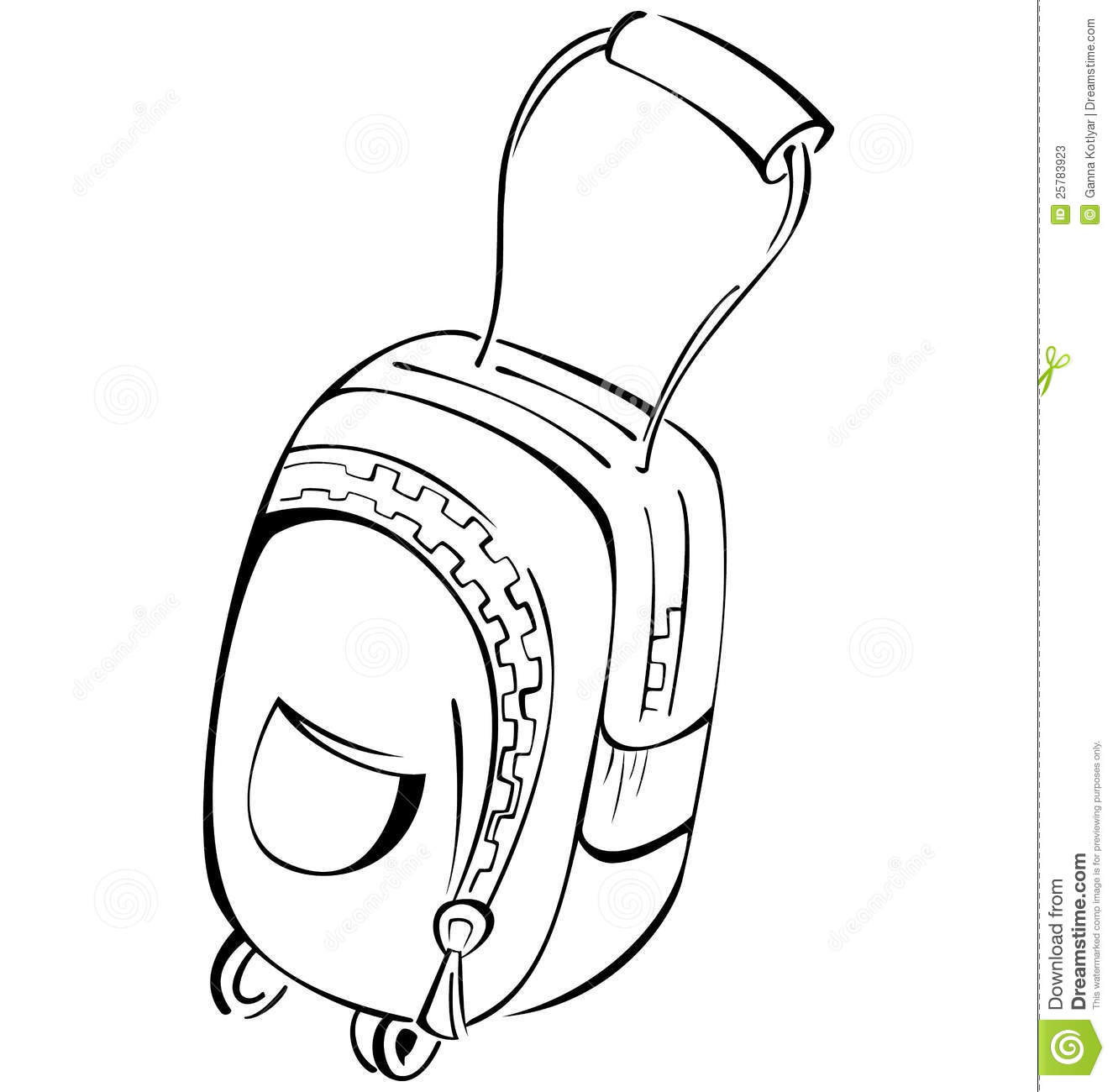 Black And White Contour Luggage Bag Stock Photos - Image: 25783923