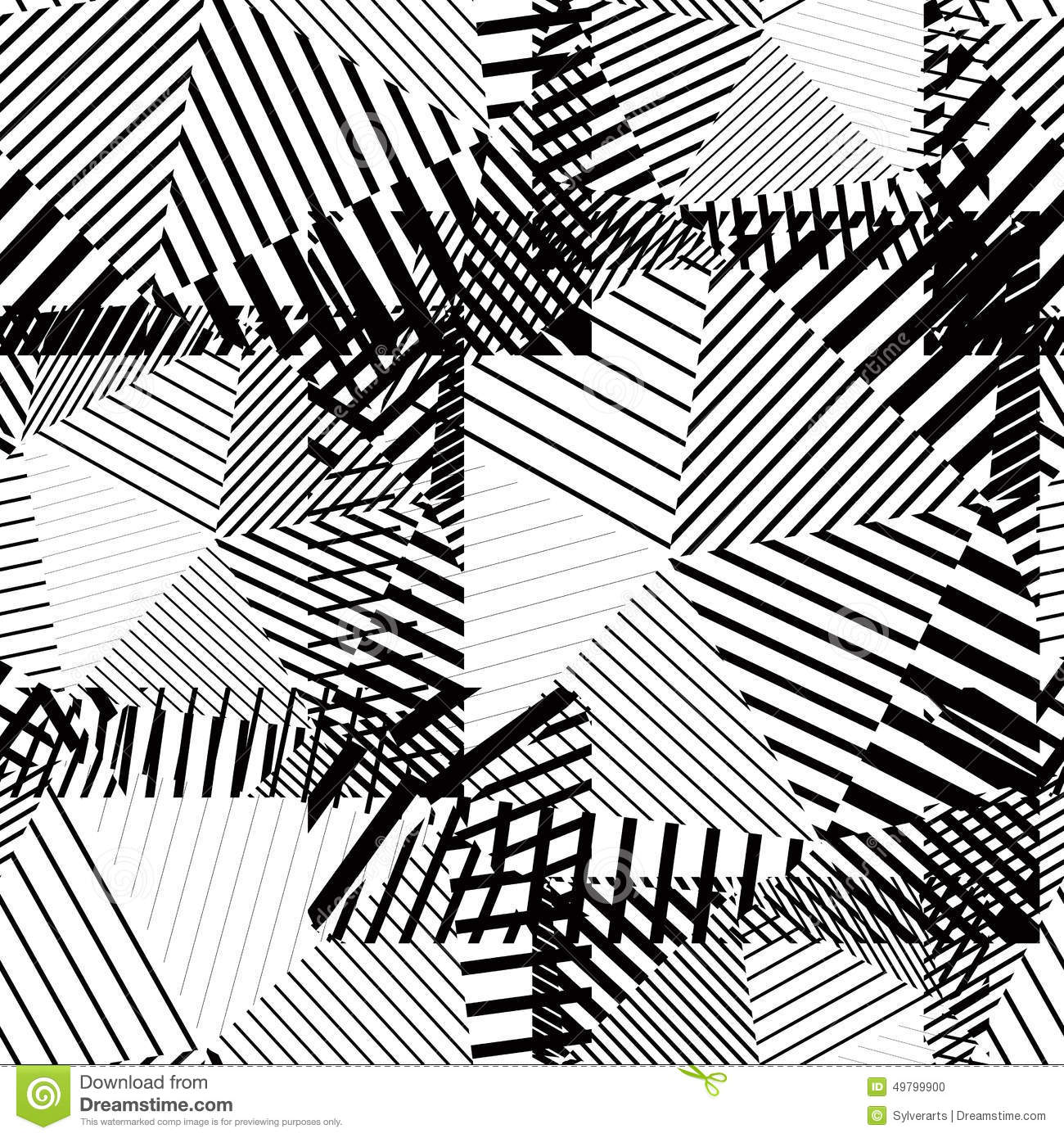 Vector Drawing Lines Java : Black and white creative continuous lines pattern
