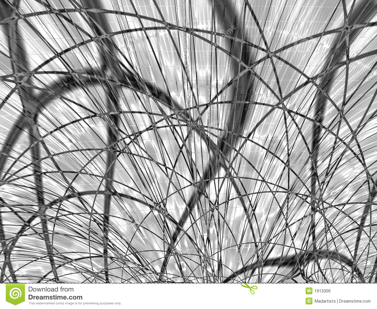 Black And White Curved Lines Stock Photo - Image: 1913306