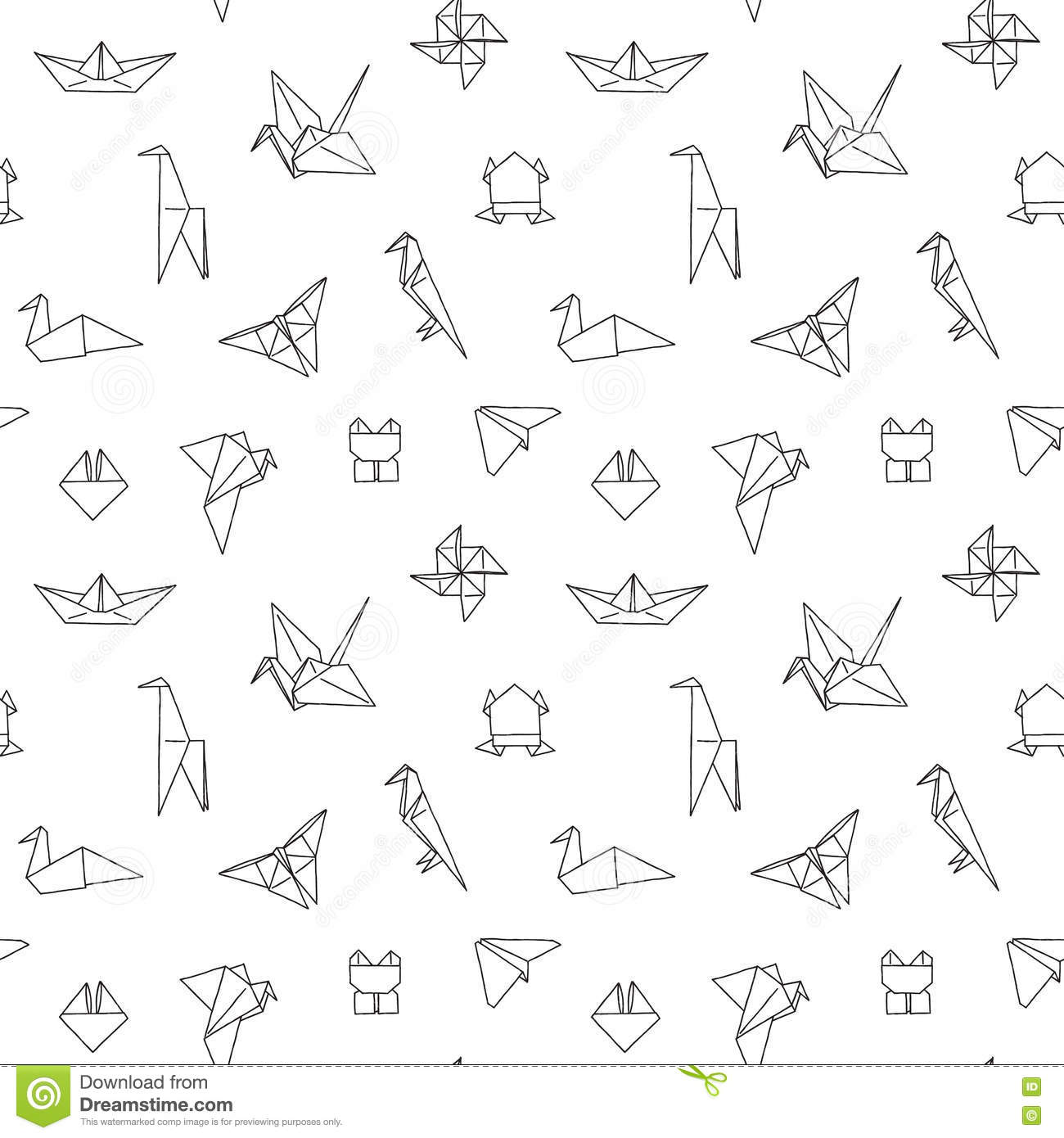 black and white cute kids seamless pattern stock vector
