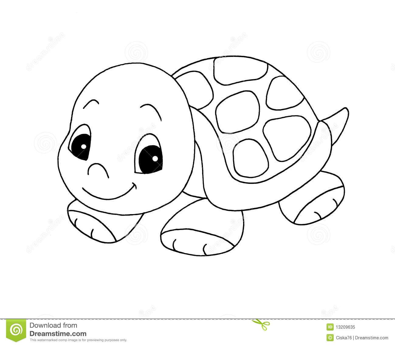 Turtle Clip Art Black and White