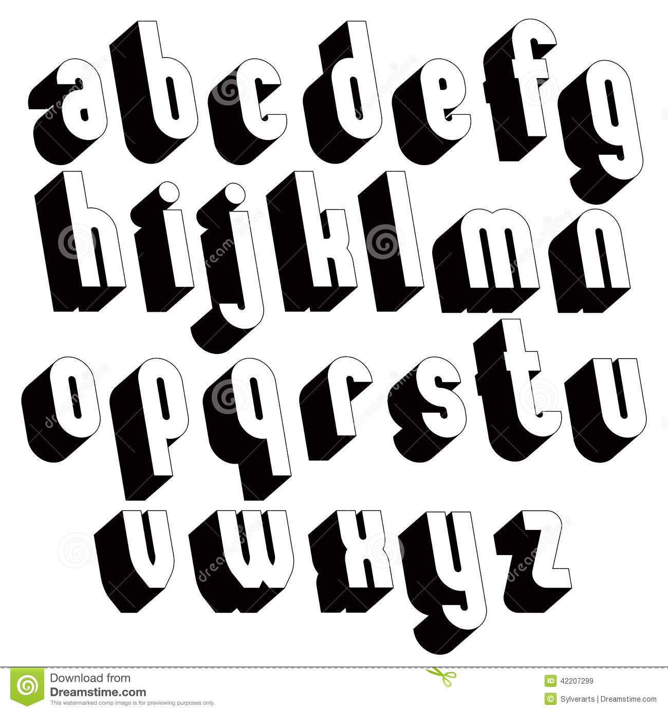 Fancy Fonts Alphabet Letters Bold