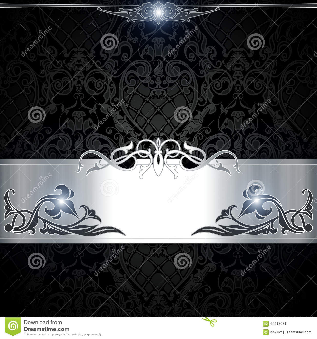 Black And White Decorative Background. Stock Illustration ...