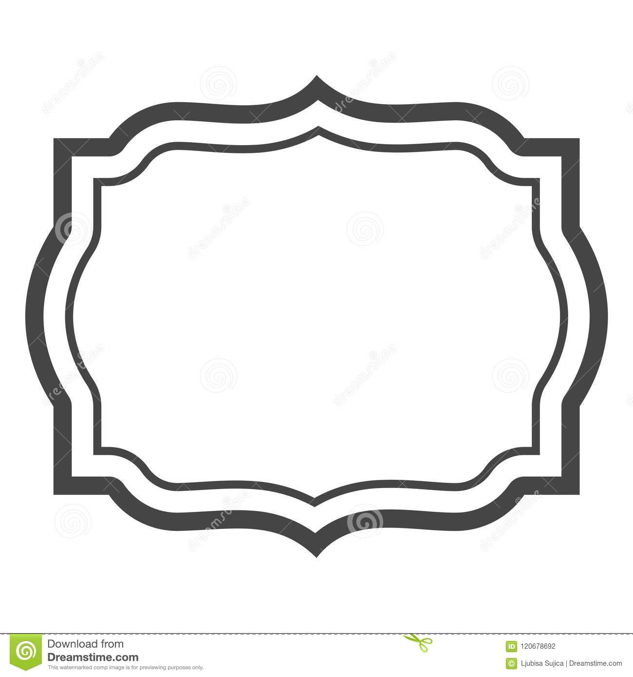 Black And White Decorative Line Border Frame Stock Vector ...