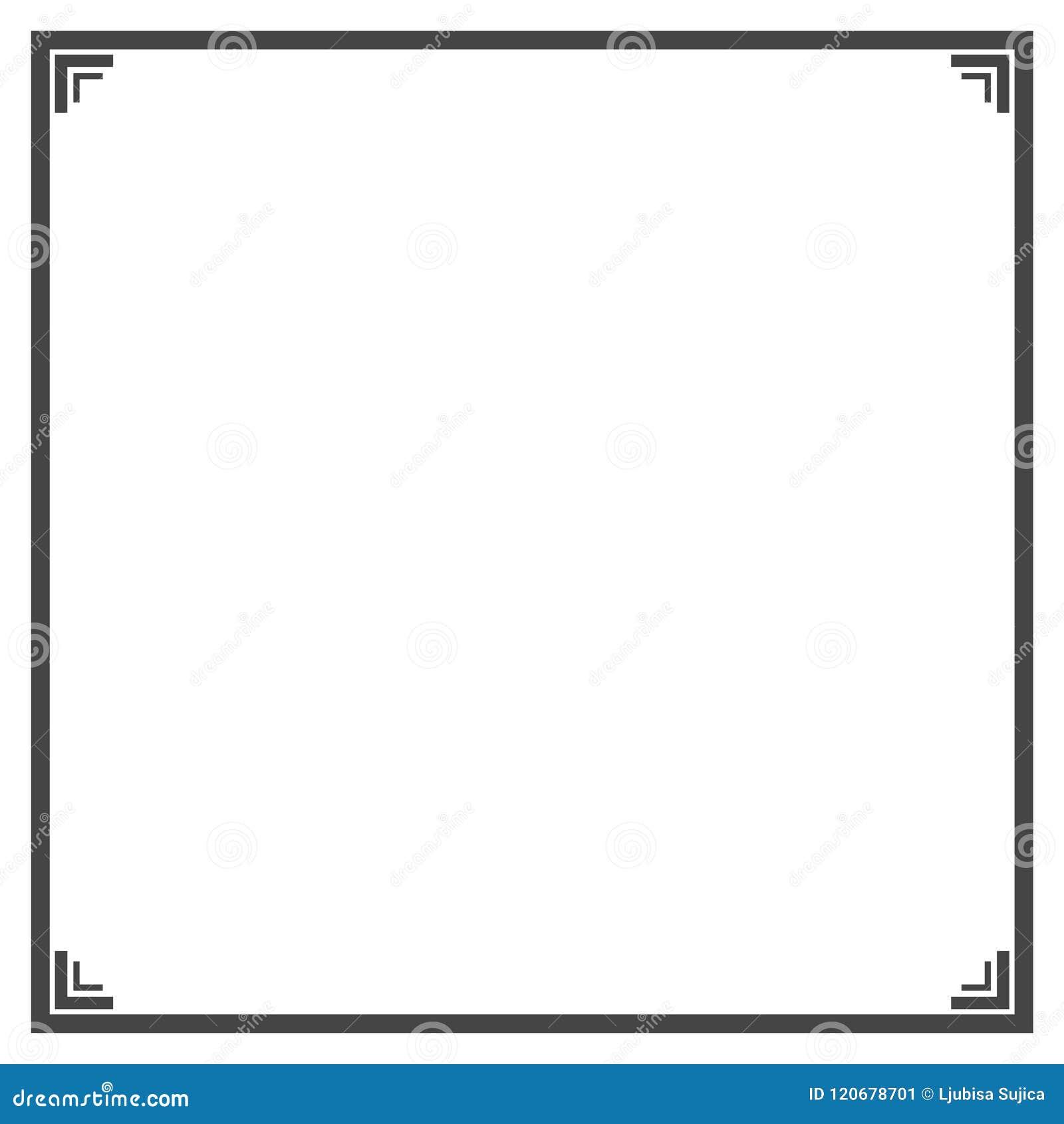Black And White Decorative Line Border Frame Stock Vector ...